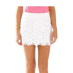 Lilly Pulitzer Tate White Eyelet Mini Skirt